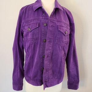 Paige Purple Denim Jacket